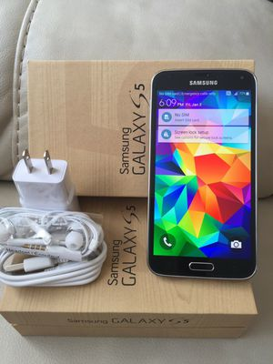Samsung Galaxy S5 - just like new, factory unlocked, clean IMEI for Sale in Springfield, VA