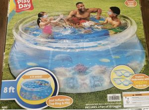 Play Day 8ft 3D Transparent Quick Set Pool 2 Pairs 3D Goggles for Sale in Brooklyn, NY