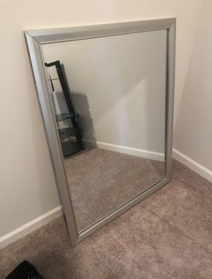 Large wall mount mirror with silver frame for Sale in Lithonia, GA