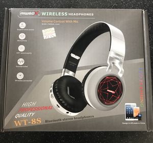 WT-8S Bluetooth Headphones, LED Light Up Wireless Headphones Over Ear Hi-Fi Stereo Foldable Wireless/Wired Headsets with Mic and TF-Card Compatible f for Sale in Lorton, VA