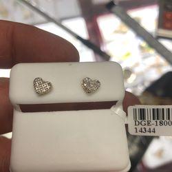 Real Diamond Heart Earrings for Sale in Boston,  MA