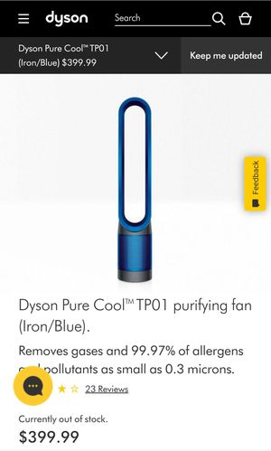 Dyson Pure Cool (TP01) Purifying Fan. for Sale in Salt Lake City, UT