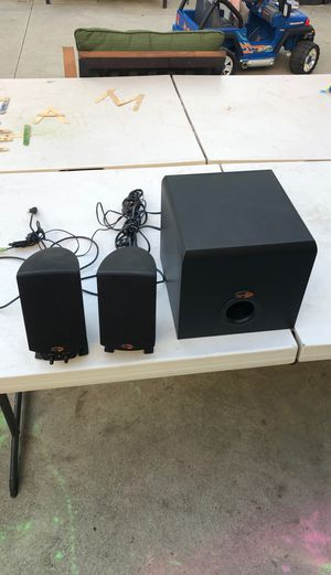 Klipsch promedia 2.1 Speakers and subwoofer for Sale in Los Angeles, CA