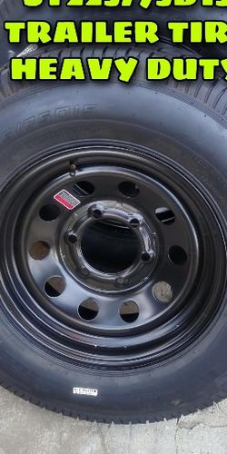 NEW TRAILER TIRES EACH FOR SALE 225/75R15 6lugs Heavy Duty for Sale in Los Angeles,  CA