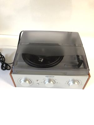 Turn table JENSEN JTA-220 3-Speed Stereo Turntable with AM/FM Receiver & 2 Built-in Speakers for Sale in Austin, TX