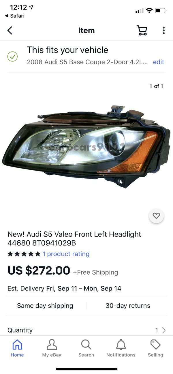 Valeo (OEM Audi) left headlamp