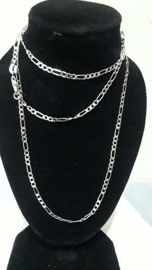 Sterling silver Figaro 2mm Necklace for Sale in Tampa, FL