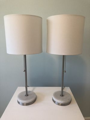 Hayes Marble Base Stick Nickel Nightstand Lamp by Project 62 for Sale in Scotch Plains, NJ
