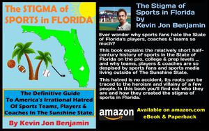 """The Stigma of Sports in Florida"" -- New Paperback -- Explains the History of Sports in the Sunshine State - Perfect for Home-Schooling for Sale in Dover, FL"