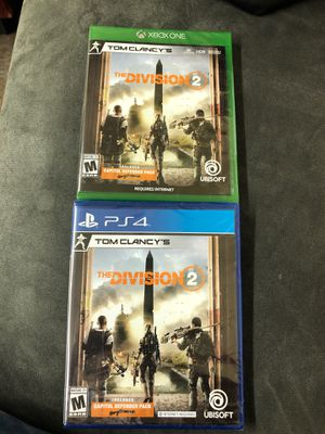 PS4 )(XBOXONE). The DIVISION 2. Capitol defender pack. New $50 Nuevos $50por los dos for Sale in Mesquite, TX