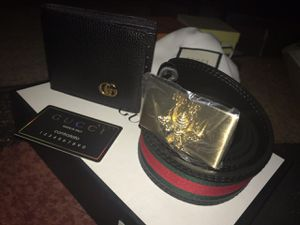 Gucci belt and wallet box set brand new sell or trade for mmj for Sale in Denver, CO