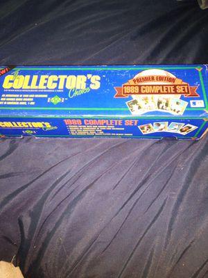 Upper Deck premier edition 1989 complete set 800 baseball cards including rookie Ken Griffey jr. Baseball card for Sale in Portland, OR