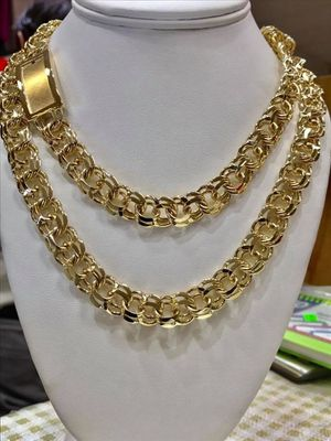 10 karat gold chino link chain custom made 152g ( item # M152) for Sale in Houston, TX