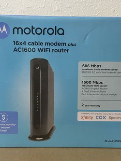 16X4 Cable Modem Plus AC1600 WiFi Router for Sale in Seattle,  WA
