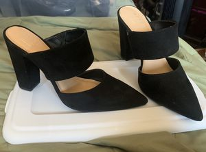 APT.9 - Velvet black heels, only wore once. Paid $59, selling them for $30. for Sale in Hacienda Heights, CA