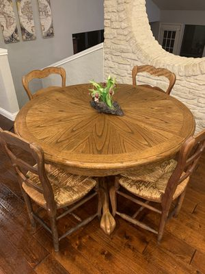 Vintage Solid Wood Expandable Clawfoot Table with Chairs for Sale in Austin, TX