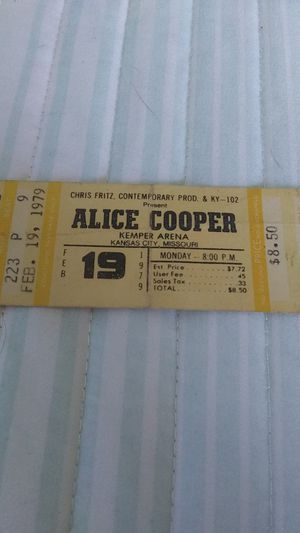 Full Ticket From 1979 Alice Cooper for Sale in Peculiar, MO