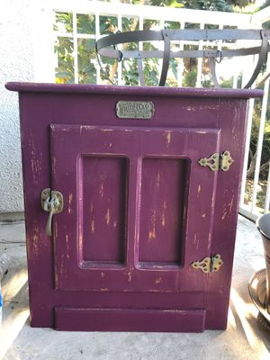 Antique Whiteclad Icebox Cabinet for Sale in Coronado, CA