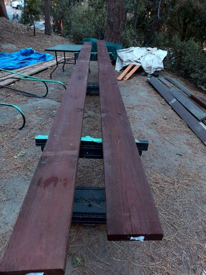 """Two 2"""" x 8"""" x 16' Pressure treated Brown Ground contact lumber for Sale in Idyllwild, CA"""
