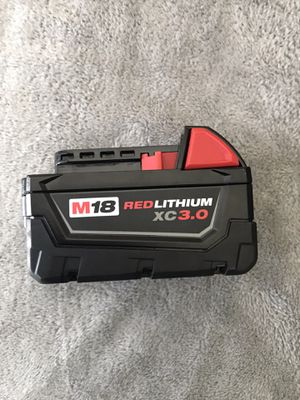NEWMIlwaukee M18 18-Volt Lithium-Ion XC Extended Capacity 3.0 AH battery Pack for Sale in Los Angeles, CA
