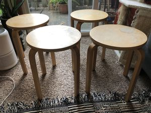 Set of 4 IKEA Stools Plant/Speaker Stand for Sale in Milwaukie, OR