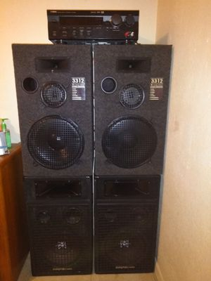 "Yamaha digitil surround sound it comes wit two 3312 acoustic studio monitor speekers and a set of 12"" digital pro audios studio monitor for Sale in Orlando, FL"