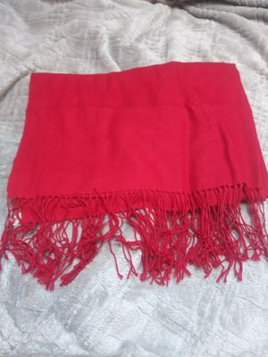 """NORDSTROM Scarf 100% Cashmere Red 54"""" x 10"""" with Fringe for Sale in Keizer, OR"""