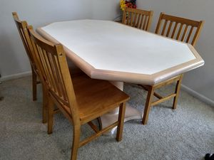 "58""x35"" Full Wooden Vintage Dining Table Set with 4 Chairs. for Sale in Voorhees Township, NJ"
