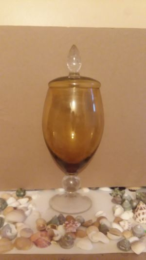 "14""H . Vintage glass candy vase (?) for Sale in Riverview, FL"
