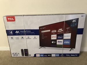 "TCL 55"" TV 1 year warranty included for Sale in Woodbridge, VA"