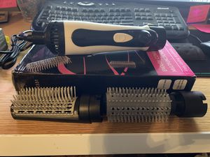 Anion Hot Air Hair Brush Styler Curl Straighten & Blow Dry Thermo Bristle Brush for Sale in Bloomington, CA