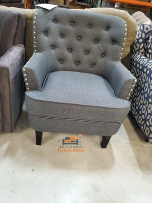 Brand New Grey Linen Accent Chair (New in Box) for Sale in Silver Spring, MD