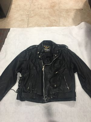 Motorcycle leather jacket size large for Sale in Garfield, NJ