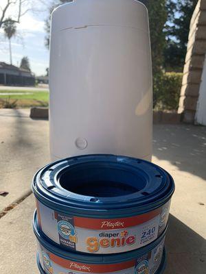 Mini Diaper Genie and Three Refills for Sale in Fresno, CA