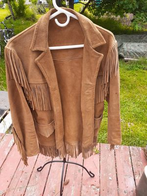 Vintage Handmade Suede Leather Jacket for Sale in Yelm, WA