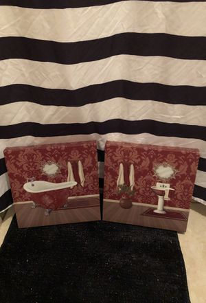 Bath room wall canvases for Sale in Winter Haven, FL