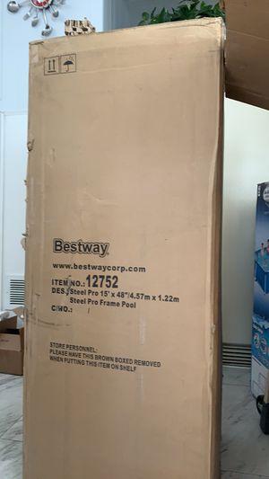 Bestway steel pro frame pool 15x48 for Sale in Garden Grove, CA