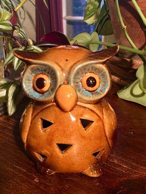 Vintage Ceramic Owl Candle Holder Incense Holder Owl Decor Boho Chic T Light Holder Home Decor - Pick Up LA or OC for Sale in Los Angeles, CA