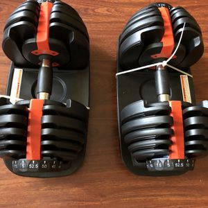 NEW 52.5lbs Adjustable Dumbbell Sets for Sale in Los Angeles, CA