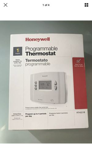 Honeywell Programmable Thermostat Set Point 1 Week, Heat & Cool 24 V for Sale in Los Angeles, CA