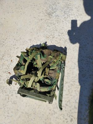 Military Issue Alice Rucksac Backpack with machete for Sale in Las Vegas, NV
