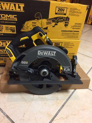 Dewalt FLEXVOLT 60-volt max lithium- lon Cordless Brushless 7-1/4 in Circular Saw (Tool-Only) for Sale in Laurel, MD