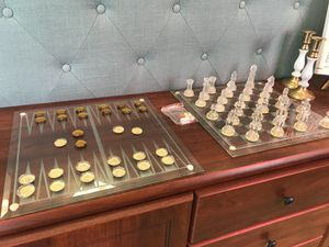 Glass Chess & Game Set for Sale in Largo, FL