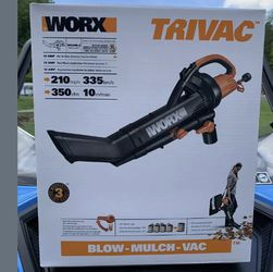 NIB WORX Trivac Collection 3-in-1 Blower Mulcher Vacuum With Leaf Collection for Sale in Reynoldsburg,  OH