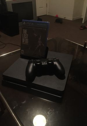 PS4 Slim (Black) 1TB with Last of Us Remastered for Sale in Washington, DC