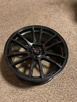 Set of 4 18x9 inch rims Glossy black 5x108 lug pattern for Sale in Boston, MA