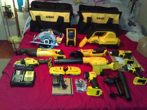 Dewalt collection 15 tools with everything u can think of for Sale in Hudson, FL