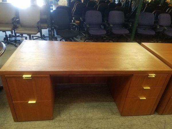 36 x 72 Cherry executive office desk $200 each (good condition)