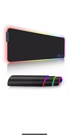 LARGE LED RGB GAMING KEYBOARD PAD MAT MOUSE PAD DESKTOP COMPUTER for Sale in Surprise, AZ