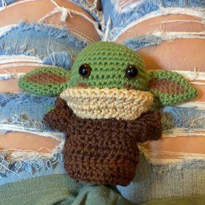 "The Child 6""- Baby Yoda Mandalorian Plush Fan Art - Crochet Amigurumi. for Sale in Gilbert, AZ"